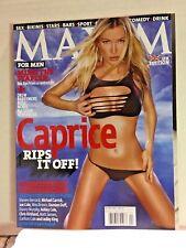 CAPRICE - MAXIM Magazine #96 (UK) - April 2003 - NATASCHA HENSTRIDGE - BRAND NEW