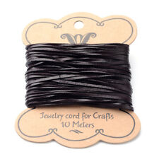 10.9yds Genuine Flat Cowhide Leather Cords Coconut Brown Rope Cable String 2x1mm