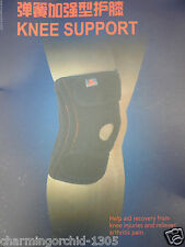 Elastic Adjustable Knee Brace Compression Support Pain Relief with Spring