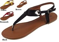 WOMENS FASHION GLADIATOR SANDALS BLACK BROWN  6 7 8 9 10 11
