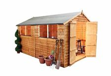 Mercia Overlap Wooden Garden Shed - 10 x 8ft