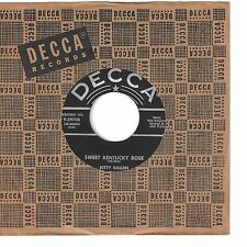 KITTY KALLEN 45  Sweet Kentucky Rose / How Lonely Can I Get? - NM