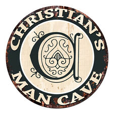 CPMC-0236 CHRISTIAN'S MAN CAVE Rustic Chic Tin Sign Man Cave Decor Gift Ideas
