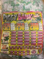 Jar Tickets! 12,000 3's PIGGY BANK Tip pull tabs Bingo Jar Tickets Profit $930