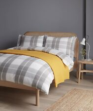 John Lewis & Partners Appin Check Brushed Cotton Duvet Cover KING