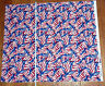 Patriotic American Flags Eagles Cotton Fabric - FABRIC MADE IN THE USA - 1/2 yd
