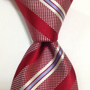 DONALD TRUMP President Signature Collection Silk Necktie STRIPE Red/Blue PERFECT