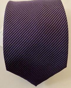 BRIONI-Purple Silk Neck Tie-Made in Italy-NWT $195
