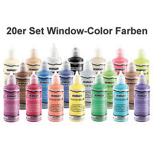 Wunschauswahl 20 Stück Window Color Farbe Glasmalfarbe 80ml Auswahl aus 39 Farbe