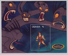 Disney Stamps mini-sheet : Hercules  Hydra monster
