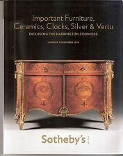 """SOTHEBY'S """" IMPORTANT FURINITURE  including The Harrington Commode """" Londra 2010"""