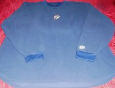 MIAMI DOPHINS NFL MENS VICTORY PULLOVER FLEECE CREW NECK JERSEY Blue Sz XL