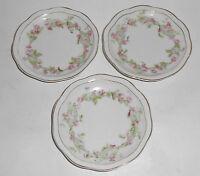 Z S & Co Bavaria Porcelain Orleans Pink Roses W/Gold Demi 3/Saucers