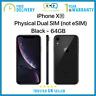New iPhone XR 6.1 inch 64GB Dual Physical SIM Unlocked - Black - Apple Warranty