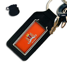 CITY OF AMSTERDAM COAT OF ARMS HOLLAND OBLONG LEATHER KEYRING / KEYFOB