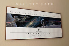 RARE!! POPS IN SPACE! ROBERT MCCALL SIGNED VTG POSTER! PRINT SPACE ART NASA 1989