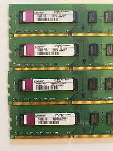 Kingston 8GB 4x 2GB 2Rx8 PC3 8500U DDR3 Desktop RAM
