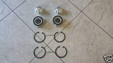 FIAT PANDA  04-- TWO FRONT WHEEL BEARING KITS  LOCK NUTS CIRCLIPS