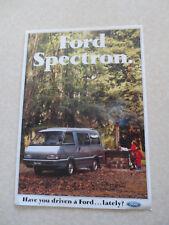 1990 Ford Spectron van Australian advertising brochure