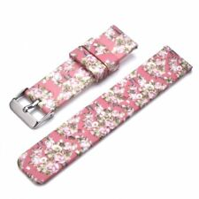 Silicone Quick Release Replacement Band Metal Buckle 22mm Spring Bars Flowers