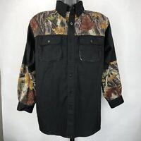 Prestige Master Sportsman Rugged Outdoor Gear Men's LG Shirt Black Woodland L/S