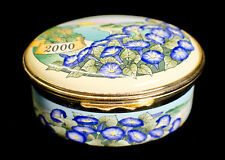 "Halcyon Days Enamels ""The Year to Remember� 2000 Trinket Box in Original Box"