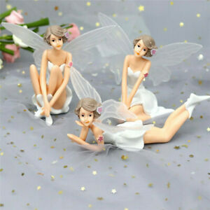 3Pcs Cake Miniature Flying Wings Flower Fairy Decors Garden Cute Doll Ornament