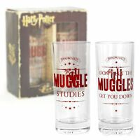 New Harry Potter Muggle Studies Set Of 2 Glasses Drinking Tumblers Official
