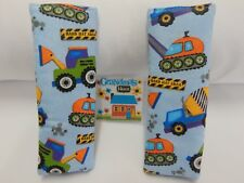 Seat Belt Covers Construction Diggers Tractors Child Car Seat Highchair Pram
