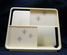 Vintage Mid Century Modern Atomic Starburst Plastic Napkin Holder