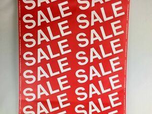 SALE DISPLAY BANNER/ROLL VERTICAL SHOP WINDOW WAREHOUSE 10m x 53cm EYE CATCHING!