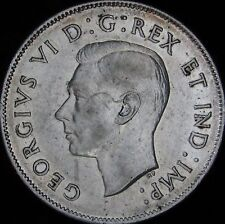 1943 AU Canada Silver 50 Cents (Fifty, Half) - KM# 36 - Free Shipping - JG