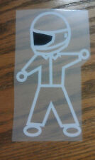 Motorcycle Dude Vinyl Sticker, Decal, Awesomely Cool! White