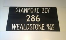 """Routemaster Linen Bus Blind 1083 36""""- Stanmore Bdy 286 Wealdstone Grant Road"""