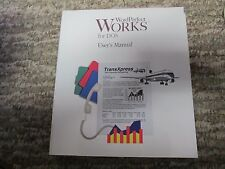 1992 Word Perfect Works for DOS User's Manual Version 1.0