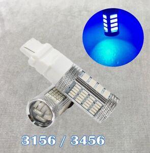 Rear Trun Signal Light T25 3156 3456 92 LED Blue Bulb Lamp W1 GM JA