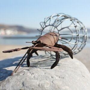 Metal Lobster with Trap | Seaside Decoration by Shoeless Joe