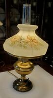 Vintage Hurricane Lamp Flower Shade