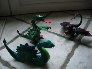 Playmobil lot de 3 dragons