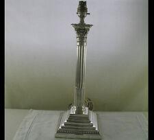 Wonderful Large Silver Table Lamp Corinthian, 22 in.