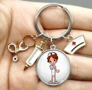 Schlüsselanhänger Krankenschwester, Pflege, Medizin, Spritze, Geschenk