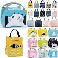 Lunch Box Insulated Women Kids Portable Cartoon Thermal Bag Picnic Tote Cooler
