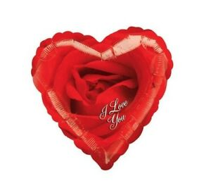 """I love You Rose Foil Balloon x3, Valentines Mothers Day Anniversary Birthday 18"""""""