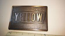 Vintage Yellow Freight Line Belt Buckle , Brand New, Never Worn