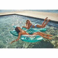 Luxe Pool Ring by Sunnylife Mermaid Tail Float Turquoise and Silver New Sealed