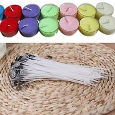 100Pcs Natural Candle Wick Low Smoke 6 Inch Pre-Waxed Core For Candle Making DIY