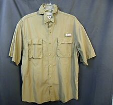 World Wide Sportsman Tan Angler Short-Sleeve Shirt Vented Pockets Size 2Xl