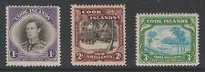 Cook Islands 1938 Complete set SG 127-129 Mnh.