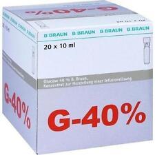 GLUCOSE 40% Braun Mini Plasco connect Inf.-Lsg.-K. 20X10ml PZN 3159304