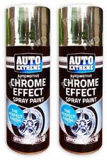 2 Automotive Chrome Effect Spray Paint Aerosol Cars Wood Metal Walls Graffiti
